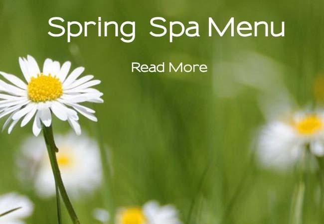 Spring Spa Menu