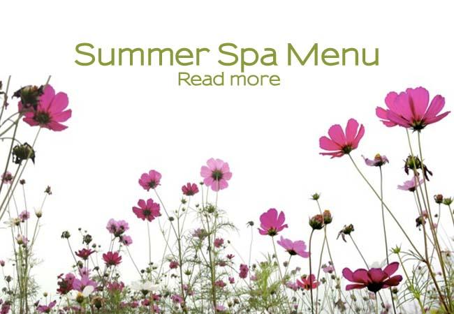Summer spa menu